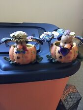 2  Home Interiors Turkey Tealight Holders THANKSGIVING  Holiday Table  Votive
