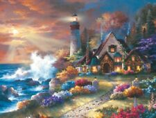 Jigsaw Puzzle Seascape Lighthouse Guardian of Light 300 pieces NEW made in USA