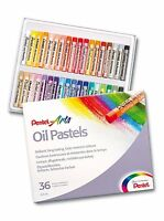 Pentel Oil Pastels Artist's Pastels - Pack of 36 Vivid Colours