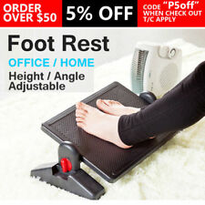 Foot Rest Stool Office Computer Desk Footrest Comfort Height Angle Adjustable