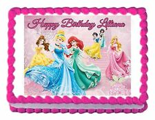 DISNEY PRINCESS party decoration edible cake image cake topper frosting sheet