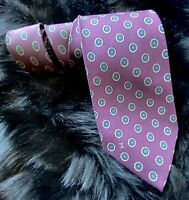 Preowned Chanel Hand Made Italy Mens 100% Silk Neck Tie 56.75 In 3.25