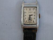 Reloj De Pulsera Art Deco Para Hombre De Acero Inoxidable J.W. Benson Rectangular-no en funcionamiento