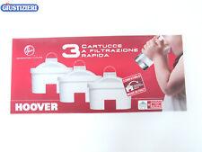 35601028 FILTRI PER CARAFFA FILTRANTE HOOVER TIPO UNIVERSALE ORIGINALE 3 CARTUCC