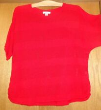 Woman's sz X - Red Slouch SWEATER - CJ Banks - Batwing sleeves -  Cool