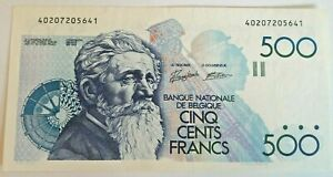 500 Francs Meunier Belgique 500 Frank Belgïe Belgium Banknote