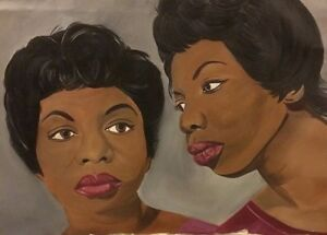 "Portrait of Jazz Icon, Nina Simone - Original Artwork: ""Eunice or Nina"""