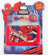 Official Licensed Niños Niño Spiderman Digital Reloj Y Cartera Conjunto de Regalo MV15218