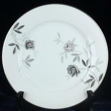"8.5"" Plate Rosamor Noritake 5851 Porcelain Ceramic China Japan Gray Rose"