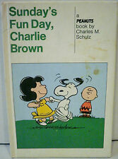 """Peanuts """"Sunday's Fun Day, Charlie Brown"""" Hardcover Weekly Reader Books 1965"""