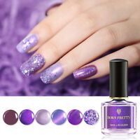 6ml BORN PRETTY Purple Sequins Nail Polish Holographicss Glitter Shimmer Varnish