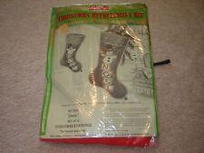 Vintage Mid Century Modern kit 3027 Bucilla Christmas Needlecraft stocking Nos