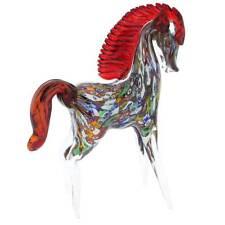 GlassOfVenice Murano Glass Millefiori Horse