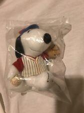 Peanuts Snoopy Baseball MetLife Promotional Plush New In Bag *3*