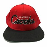 Crooks & Castles Team Snapback Cap Baseball Adjustable Sports Hat Mens New