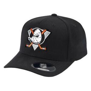 Anaheim Mighty Ducks NHL Team Logo 110 Curve Snapback Hat - Black