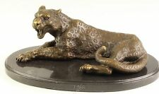 Bronze Skulptur Leopard Panthera Raubkatze
