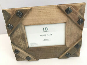 HD Designs 6 x 4 Photo Frame Rustic Picture Frame Distressed Wood New