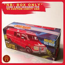 Code 3 Box suits Matchbox '95 Custom Chevy Van | 'BIG RED'