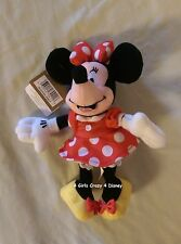 Disney Store Minnie with yellow shoes and red bow retired Vintage w Tags 8in.