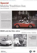 BMW Mobilie Tradition Live 50er Jahre Isetta 507 V8 Prospekt Brochure 2005 58
