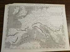 Maps- Original 1811 map of 8 th Century Europe