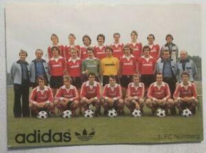 1. FC Nürnberg Original Mannschaftskarte 1978 *Teamkarte*Mannschaftsbild*ADIDAS