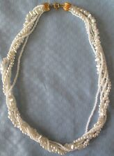 """AVON VINTAGE**WHITE MULTI-STRAND PEARL NECKLACE**18 1/2"""" LONG**1988*NEW*"""
