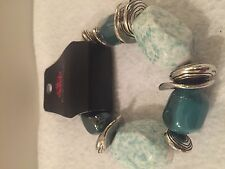 Paparazzi Bracelet (new) Glaze Of Glory Blue blockbuster - 257
