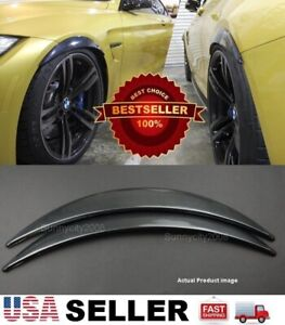 """1 Pair Carbon Effect 1"""" Diffuser Wide Fender Flares Extension For BMW"""