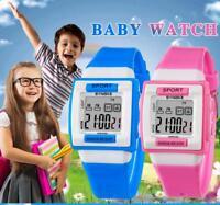 SYNOKE Kids Boys Girls Watches Silicone Luminous alarm LED Digital Waterproof AE
