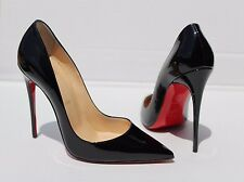 Christian Louboutin 'So Kate' Pointy Toe Pump Black Patent Leather Size 38