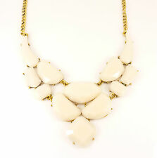 Gold Beige Multi Shape Geometric Fashion Jewellery Necklace