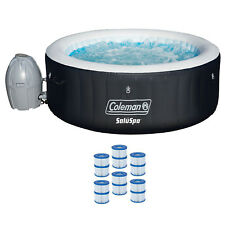 "Coleman SaluSpa 71 x 26"" Inflatable Spa 4-Person Hot Tub w/ 6 Filter Cartridges"