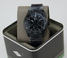 Fossil FS5576 Belmar 44mm Men's Black Stainless Steel Watch
