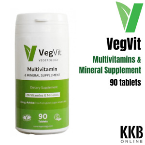 Vegetogoly Vegvit Multivitamins and Minerals Dietary Supplement - 90 Tablets