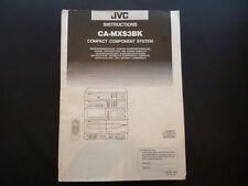 Manuale di istruzioni originale JVC ca-mx3bk