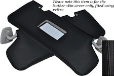 BLACK STITCH FITS FORD FIESTA MK4 MK5 95-01 2X SUN VISORS LEATHER COVERS ONLY
