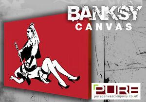 BANKSY Queen Victoria Box Canvas Art