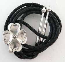 Flower Shaped Sterling Silver Attractive Southwestern Bolo Tie