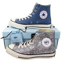 Converse Chiara Ferragni Chuck Taylor All Star 70 Hi Blue Coast Glitter 563829C
