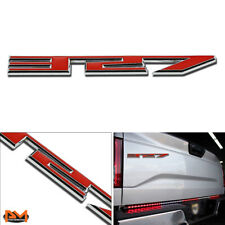 """327"" Polished Metal 3D Decal Red&Silver Emblem sticker For GMC/Jeep/Chevrolet"