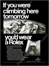 Rolex Explorer watch Mt. Everest photo classic 1960s ad new poster 24x32