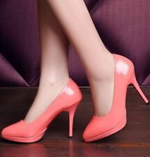 High (3 in. to 4.5 in.) Synthetic Solid Slim Heels for Women