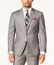$604 KENNETH COLE REACTION Men GRAY SLIM FIT SUIT JACKET BLAZER SPORTS COAT 46 R