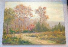 fine antique oil on board landscape painting signed Almond Hart Wentworth