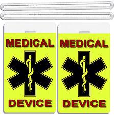2x Medical Device Luggage ID Tags TSA Carry-On CPAP BiPAP APNEA POC APAP