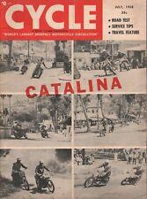 1958 July Cycle - Vintage Motorcycle Magazine - Catalina Island