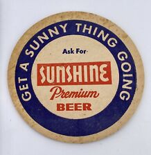 Vintage Sunshine Premium Beer Coaster Drink Mat
