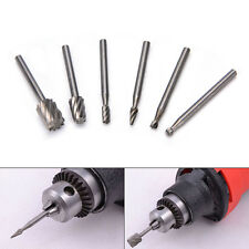 6X HSS Routing Router Grinding Bits Burr Dremel Rotary  Tool Accessories P